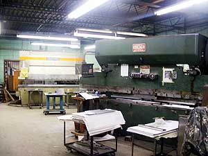 CNC Break Bending - Brake presses ranging from 6 ft. to 12 ft., up to 155 tons